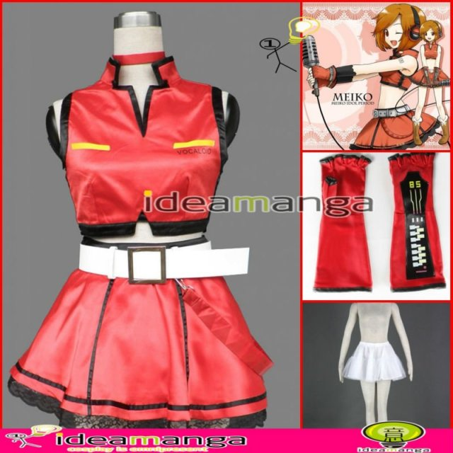 [ideamanga]Manga Amime V+ VOCALOID Meiko  Sakine Meiko 2nd girl's Cosplay Costume Female halloween party dress Any Size