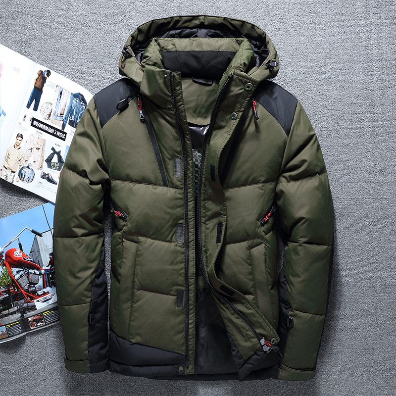 2019 Famous Brand Winter Jacket Men Patchwork Warm Duck Down Jacket Hooded Windproof Outwear High Quality Coats Male