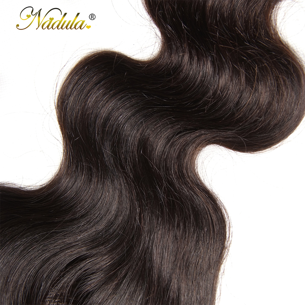 Nadula Hair 4*4 Middle /Free Part  Body Wave Hair Closure 100%   Hair Swiss Lace Closure 10-20inch 5