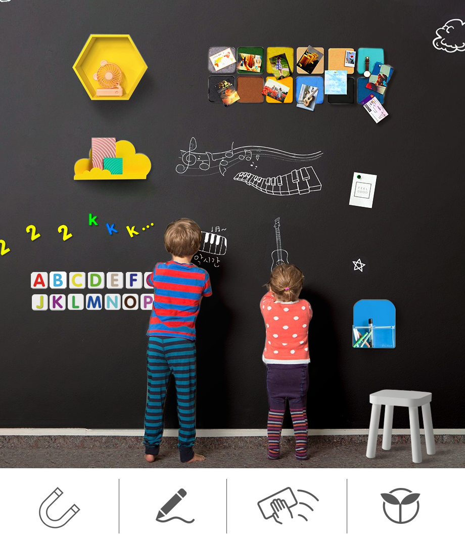 Creative Drawing Toys Child Self-Adhesive Black Drawing Chalk Board Doodle Toy Writing Painting Games Educational Toys Kids Crafts_01