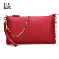 2012 Day Clutch Bag Chain Genuine Leather Cross Body Women S Handbag Long Design First Layer