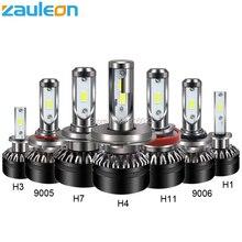 Zauleon H4 H7 H11 H8 H9 H1 H3 9005 9006 9012 COB Led-autoscheinwerferlampe Hallo-Lo Strahl 60 Watt 10000LM 6000 Karat Auto scheinwerfer