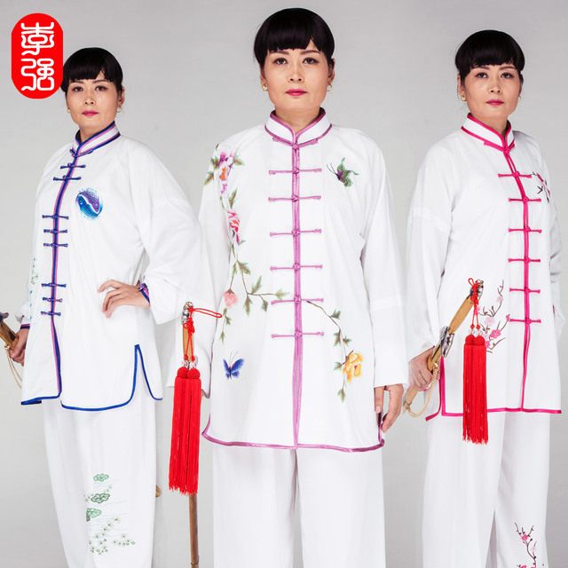 Тай-чи одежды женской одежды цветной печати тайцзицюань Равномерное боевых искусств Равномерное Ушу Униформа