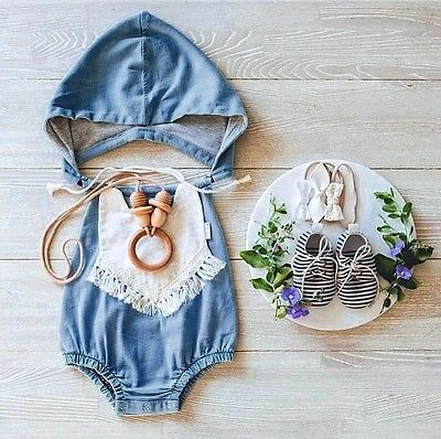 Baby Denim Rompers Top Quality Girls Jumpsuit Newborn Baby Clothes Sleeveless romper suit Overalls baby care top top