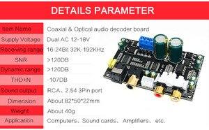 Image 3 - CS8416 CS4398 Dijital Arayüz DAC dekoder kurulu 24bit 192 K SPDIF koaksiyel Optik fiber AUX Amplifikatör TV
