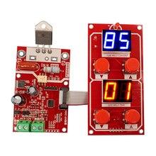 NY D04 DIY 스폿 용접기 변압기 컨트롤러 제어판 보드 조정 시간 전류 디지털 디스플레이 부저 LED 펄스
