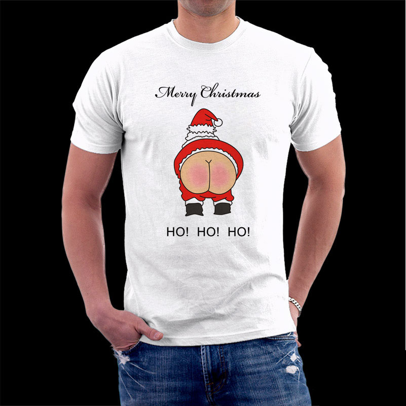 83e161d7f Rude Santa Father Christmas T shirt Funny Nude Bottom men t shirt merry christmas  shirt Santa Claus Print Tee for men women gift-in T-Shirts from Men's ...