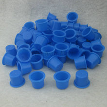 100PCS Large Size 15mm Blue Plastic Tattoo Ink Cap Cups Supply BIC15-100