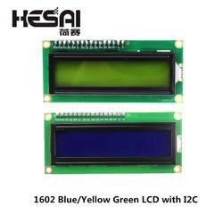 1602 Модуль ЖКД синий/желто-зеленый экран с IIC/igc 16x2 ЖК-модуль подсветки lcd-1602 + igc IIC 5V Для arduino DIY Kit