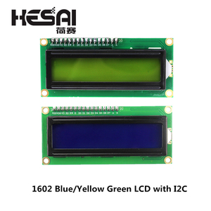 1602 LCD Module Blue/Yellow Green Screen with IIC/I2C 16x2 LCD Backlight Module LCD-1602+I2C IIC 5V for arduino DIY Kit(China)