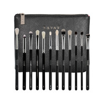 YAVAY 12 PCS Luxury Professional Complete Eye Makeup Brush Set Eyeshadow Eyeliner Blending Pencil Make Up