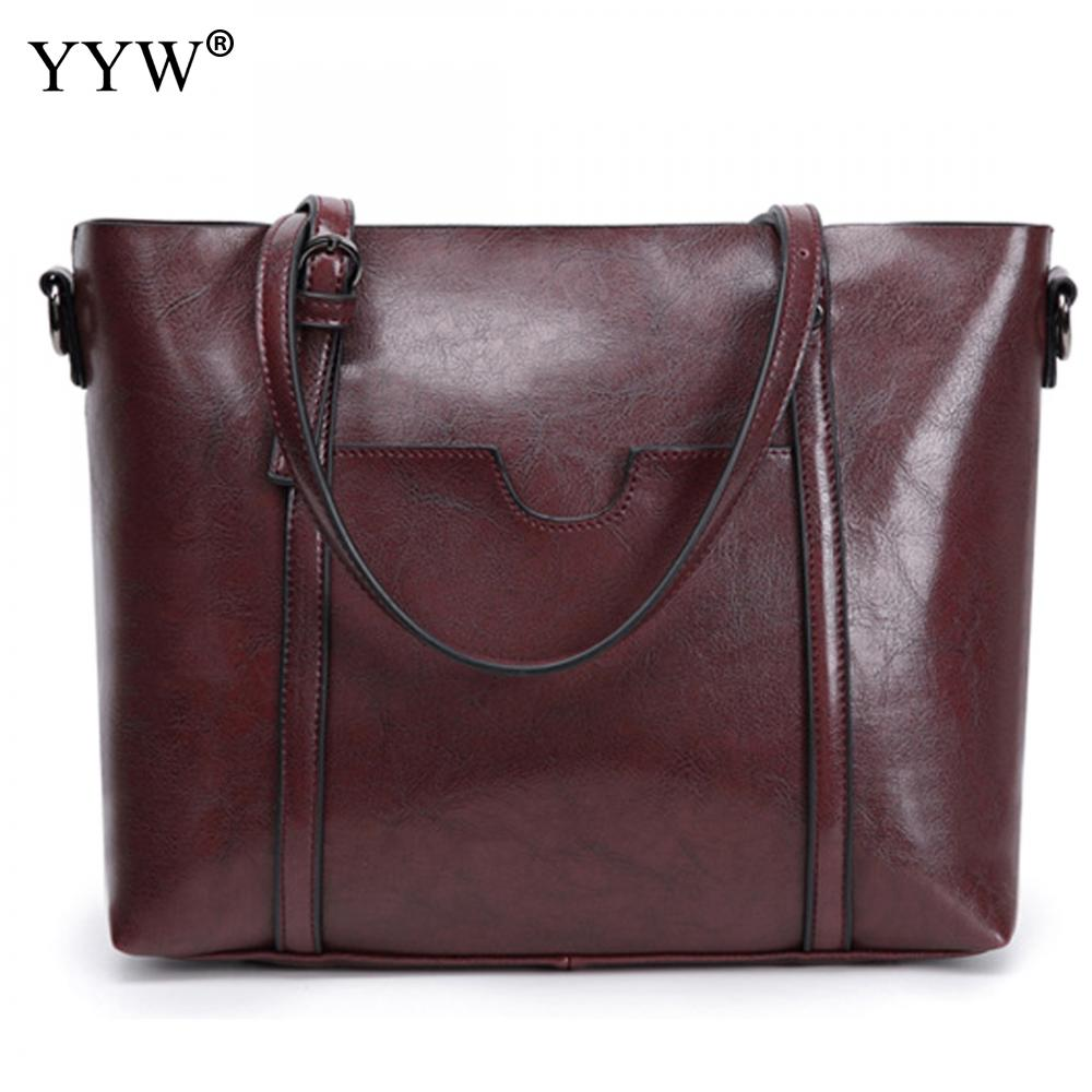 58a0fbf4c ... las mujeres bolso de hombro principal. Women Leather Tote Bag Handbag  Large Capacity font b Bolsos b font Mujer De Marca Famosa