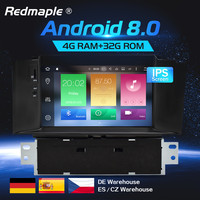 4G RAM Android 8.0 Car Radio DVD GPS Navigation Multimedia Player For Citroen C4 C4L DS4 2011 2016 Auto Audio WIFI Video Stereo