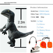 Pourim offre spéciale gonflable Velociraptor T Rex dinosaure Costume Cosplay fantaisie Halloween fête T Rex Costume pour femmes hommes adultes(China)