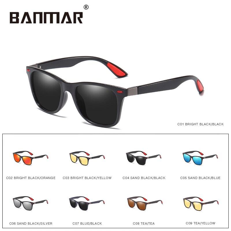 BANMAR Brand Design Classic Polarized Sunglasses Men Women Driving Square Frame Sun Glasses Male Goggle UV400 Gafas De Sol Shade 3
