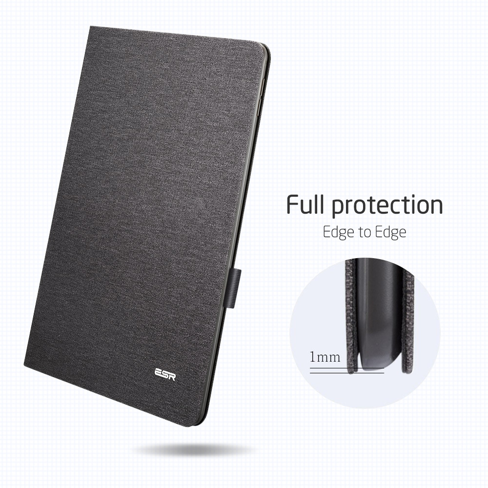 ESR Case for iPad Air 3 2019 Simplicity Oxford Cloth PU Leather Smart Cover Folio with Pencil Holder for iPad Air 3 10.5