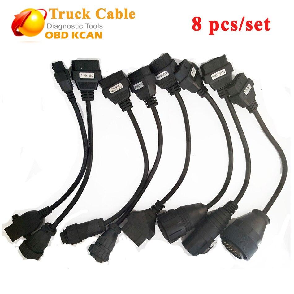 Ensemble complet de câbles de camion pour Scanner Tcs CDP PRO CDP OBD2 câbles de Diagnostic câbles de camion livraison gratuite câbles de camion cdp