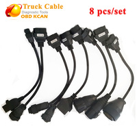 Full Set Of Truck Cables For Tcs CDP PRO CDP Scanner OBD2 Diagnostic Cables Truck Cables Free Shipping cdp truck cables