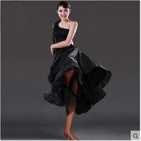 Sexy Standard Black Ballroom Dance Dresses for Women Size Waltz Tango Girls Modern Dance Skirt salsa robe jupe danse de salon