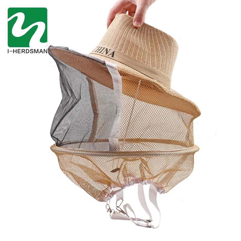 1 Pcs Anti Bee Hat Beehive Beekeeping Cowboy Hat Mosquito Bee Insect Net Veil Head Face Protector Beekeeper Equipment Wholesale