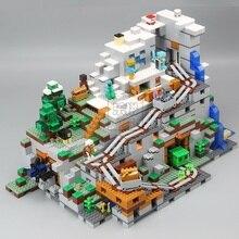 Em estoque 18032 blocos tijolos mecanismo 3043 peças a caverna montanha meus mundos compatível 21137 presentes de natal