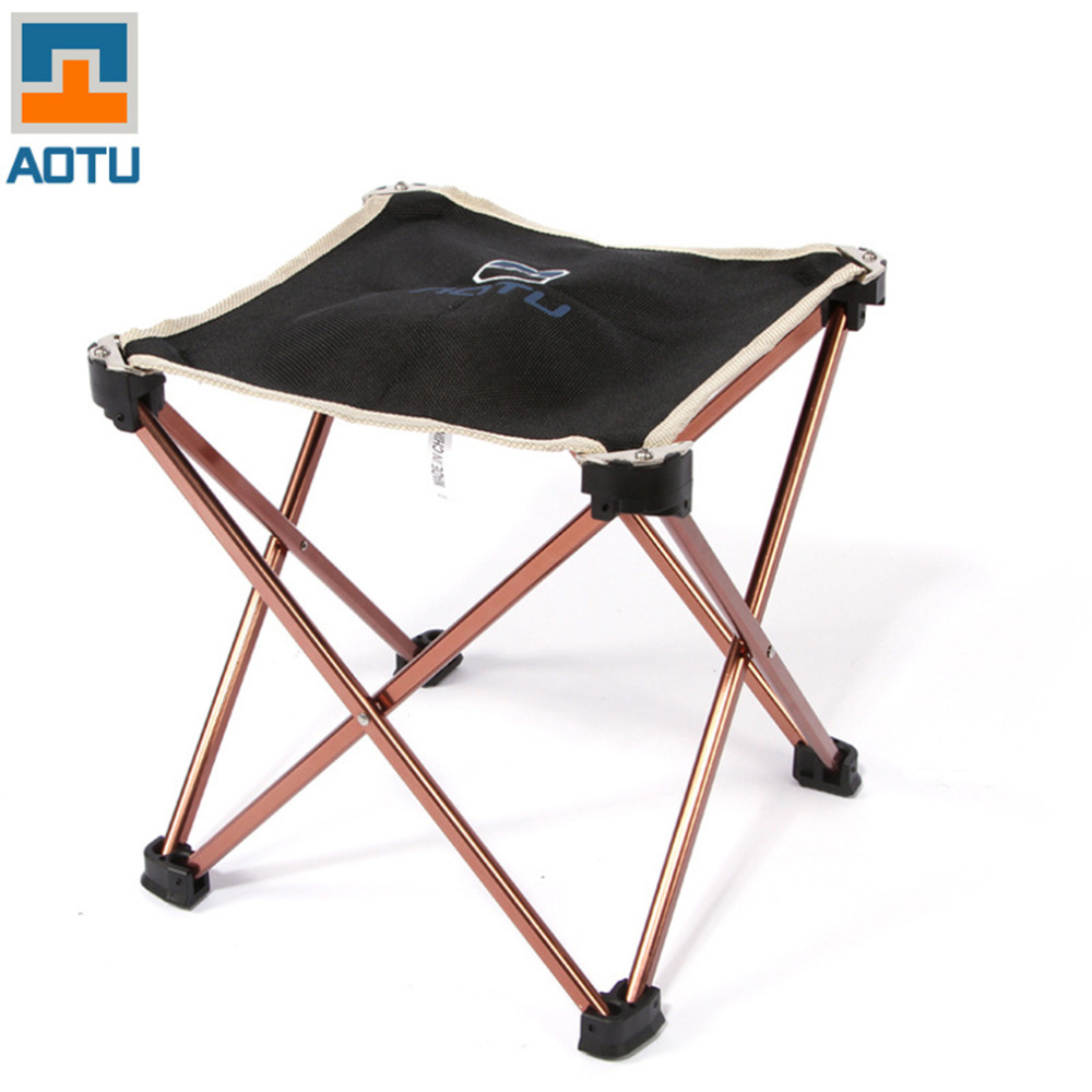 Outdoor Foldable Folding Chair Fishing Picnic BBQ Garden Chair Tool Square Camping Stool Aluminium Alloy Foldable Chair high quality outdoor camping tripod folding stool chair fishing foldable portable fishing mate chair