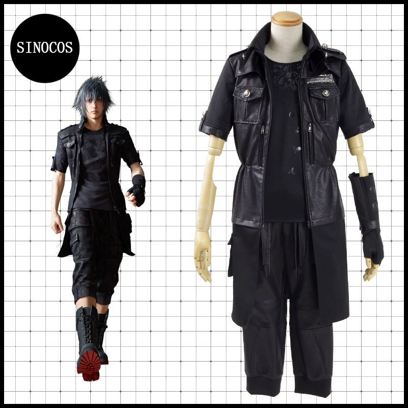 FF15 Final Fantasy Vol.15 Prince Noctis Suit Cosplay Costume Man Deluxe Suit