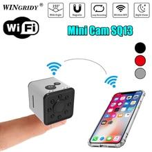 Оригинальная мини камера wifi SQ13 SQ11 SQ12 FULL HD 1080 P ночного видения Водонепроницаемая оболочка CMOS сенсорный регистратор видеокамера микро