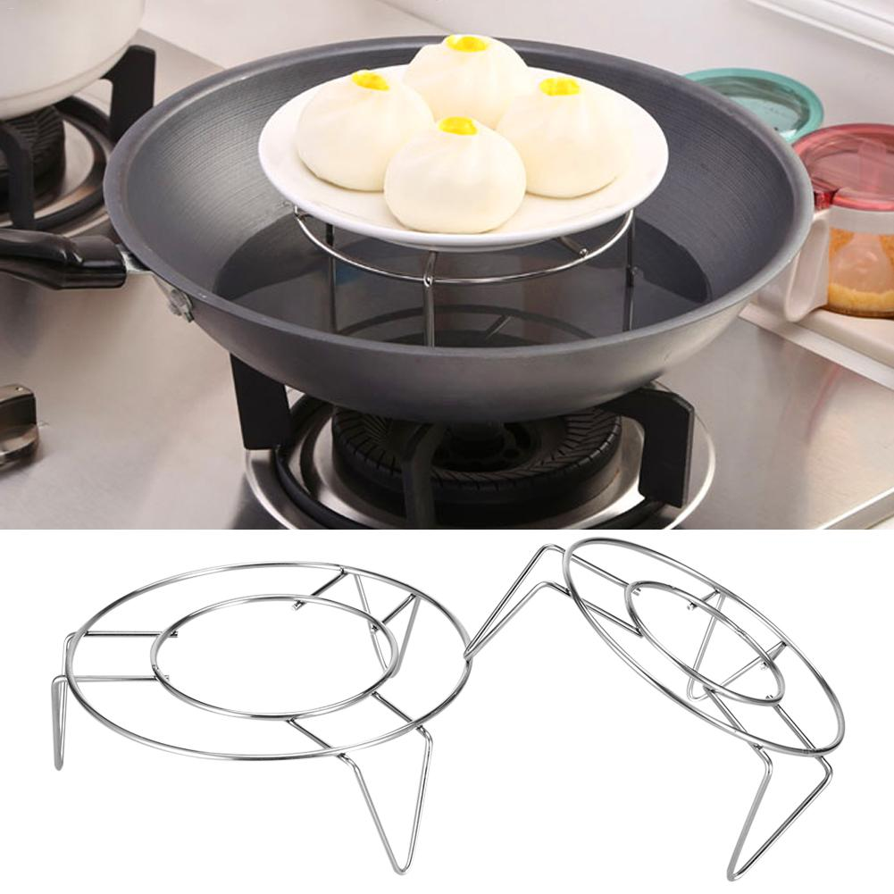 Three-legged Steamer Steamed Egg Rack Stainless Steel Egg Steaming Rack Anti-scalding Cooking High Steamed Grid