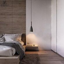 Nordic lampa wisząca do salonu/sypialni nowoczesny drewniany naszyjnik światło do holu artystyczna dekoracja wisząca lampa kolumna świetlna