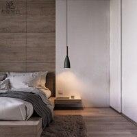 Nordic pingente lâmpada para sala de estar/quarto moderna luz pingente de madeira para lobby arte decoração pendurado barra luz luzes|Luzes de pendentes| |  -