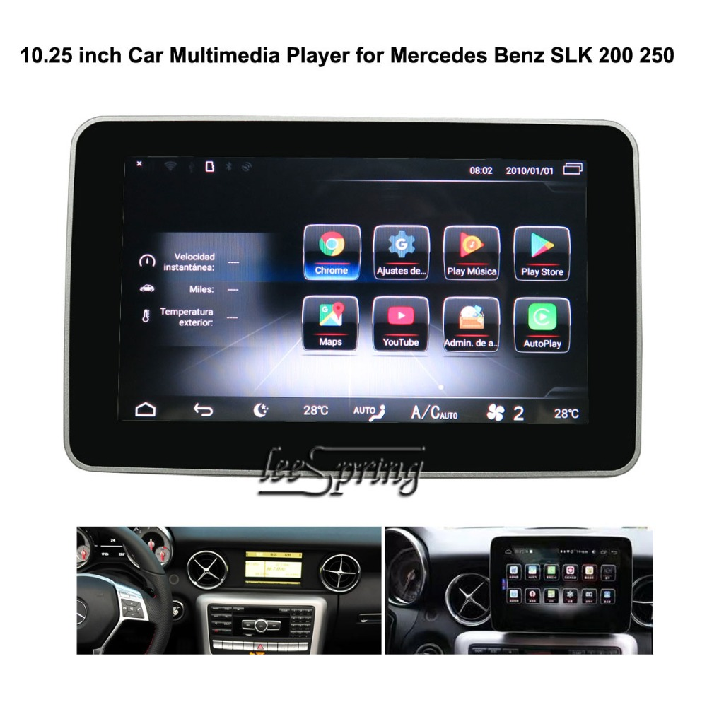 10.25 inch Android 7.1 Car GPS Navigation for <font><b>Mercede</b></font> <font><b>Benz</b></font> <font><b>SLK</b></font> <font><b>200</b></font> 250 2011-2015 image