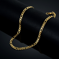48CM Steampunk Gold Chain For Women Men Chain Necklace Brand New Trendy 18k Gold Plated Fashion