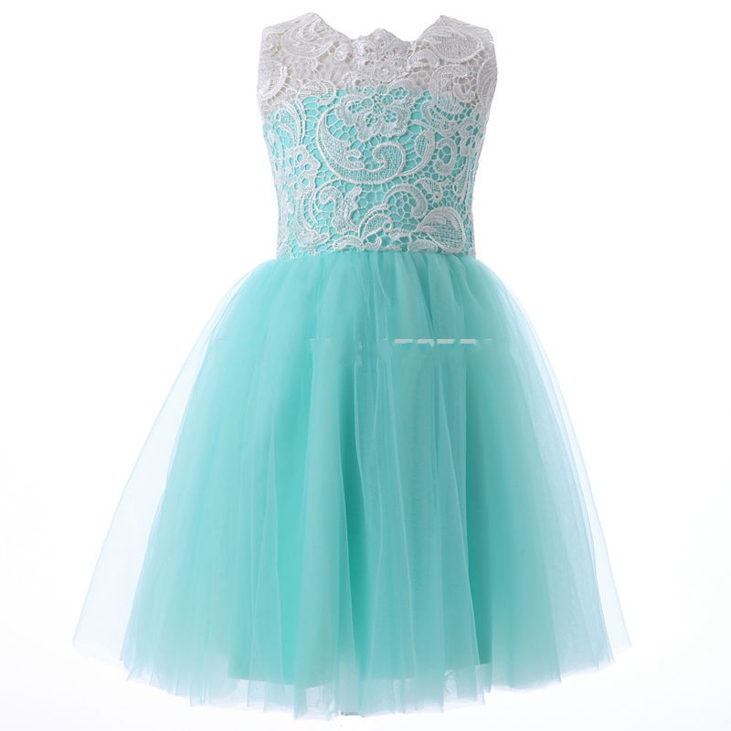2015 Cute Flower Girls Dresses Mint Green Green Summer
