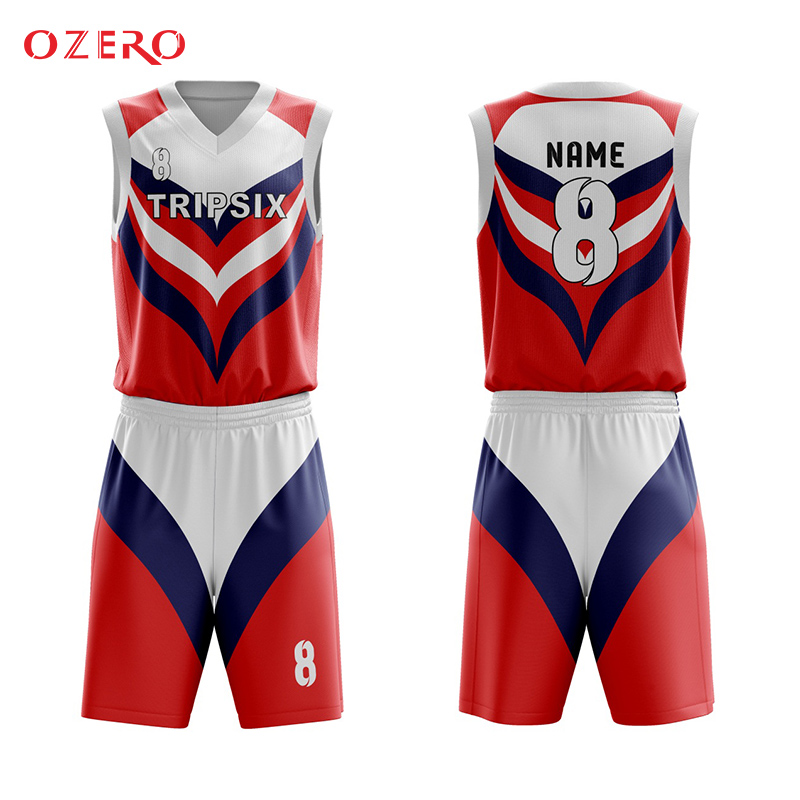 57aa03b0c Hot sale sublimation printing color basketball jersey uniform design color  red