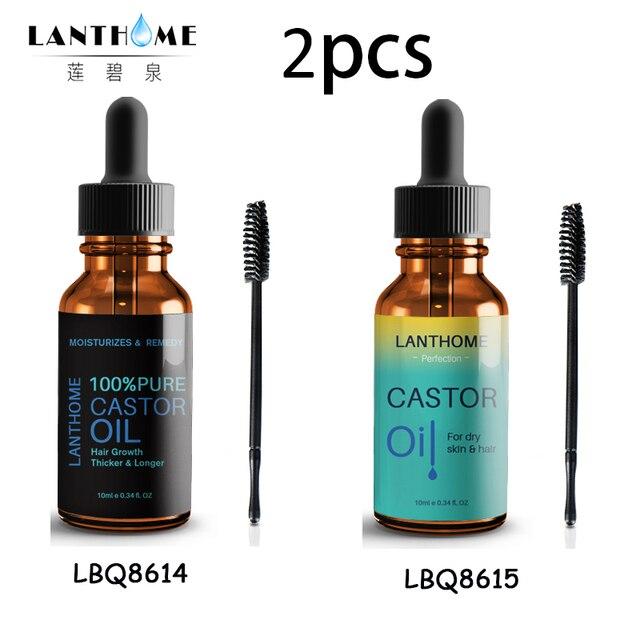 4d560c2c7a4 Balck Organic Pure Castor Oil Hair Essential Oil for Hair Growth Enhancer Eyelash  Eyebrows Stimulate Cold Regrowth Organic Serum
