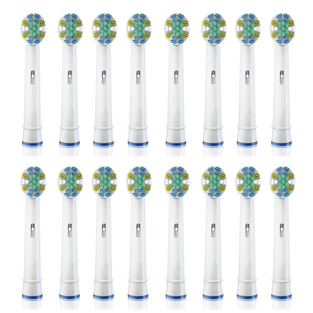 цена на 16pcs EB-25A electric toothbrush replacement heads for braun oral b vitality brush heads Floss Action