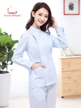 Nurses wear separate suits, work clothes, short sleeves, women's stand-up collar, dentistry, oral cavity, style