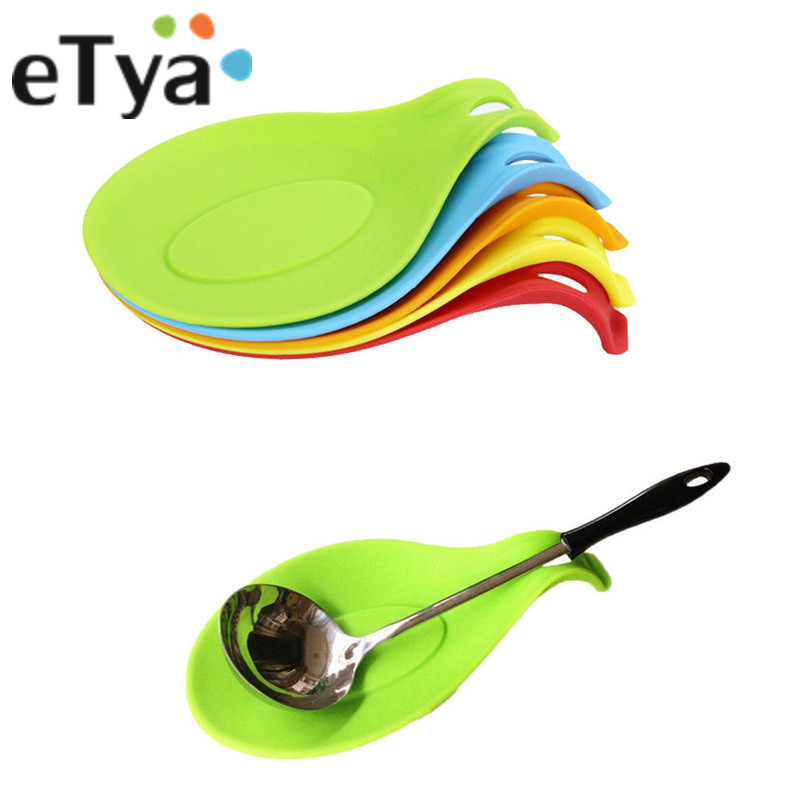 Silicone Spoon Insulation Mat Silicon Heat Resistant Placemat Drink Glass Coaster Tray hot sale Spoon Pad Kitchen Accessories