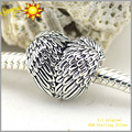 Angelic Feathers Silver Charm 100% Authentic 925 Sterling Silver DIY Beads Fits Pandora Bracelet Women Jewelry