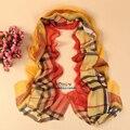 Mujeres pashmina bufanda de moda 2014 nuevo diseño largo mantón del cabo de la gasa del Poliester Bufandas silenciador tippet YN-95