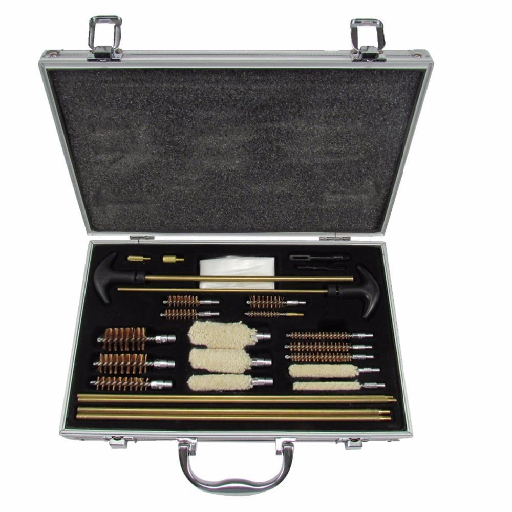 Tourbon Kit de nettoyage universel en aluminium pour pistolet tout-en-un étui de transport pour fusil de chasse Airsoft