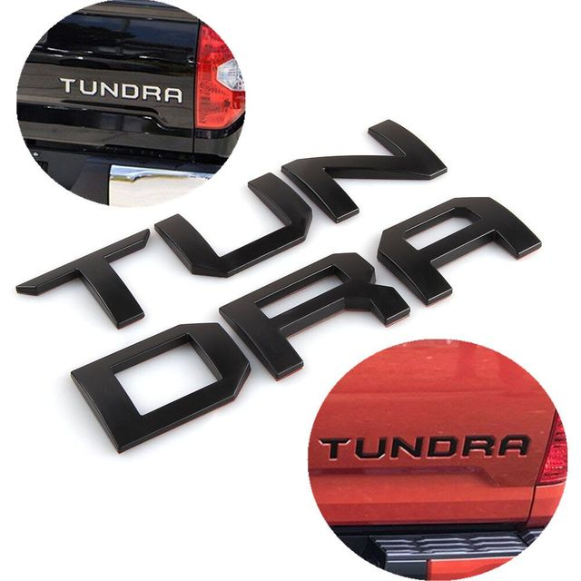 2 Colors 3D Raised Metal Emblem Badge Letter Insert for TOYOTA TUNDRA Tailgate 2014 2015 2016 2017 2018 2019 Car Accessories