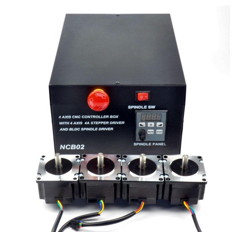 Engraving Machine Control Box 4 axis MACH3 USB Interface CNC Controller for DIY CNC Router lme21 330c2 combustion program controller control box for burner control compatible