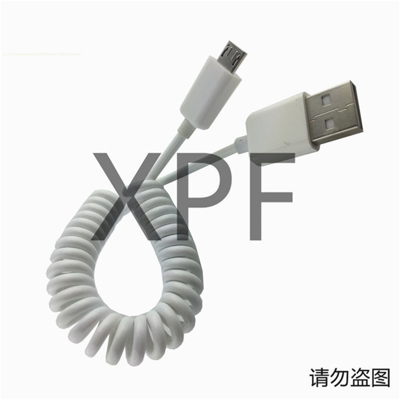 0 5M 2M usb 2 0 male to micro usb male spring Retractable stretch cable sync data charge for samsung HTC LG in Data Cables from Consumer Electronics