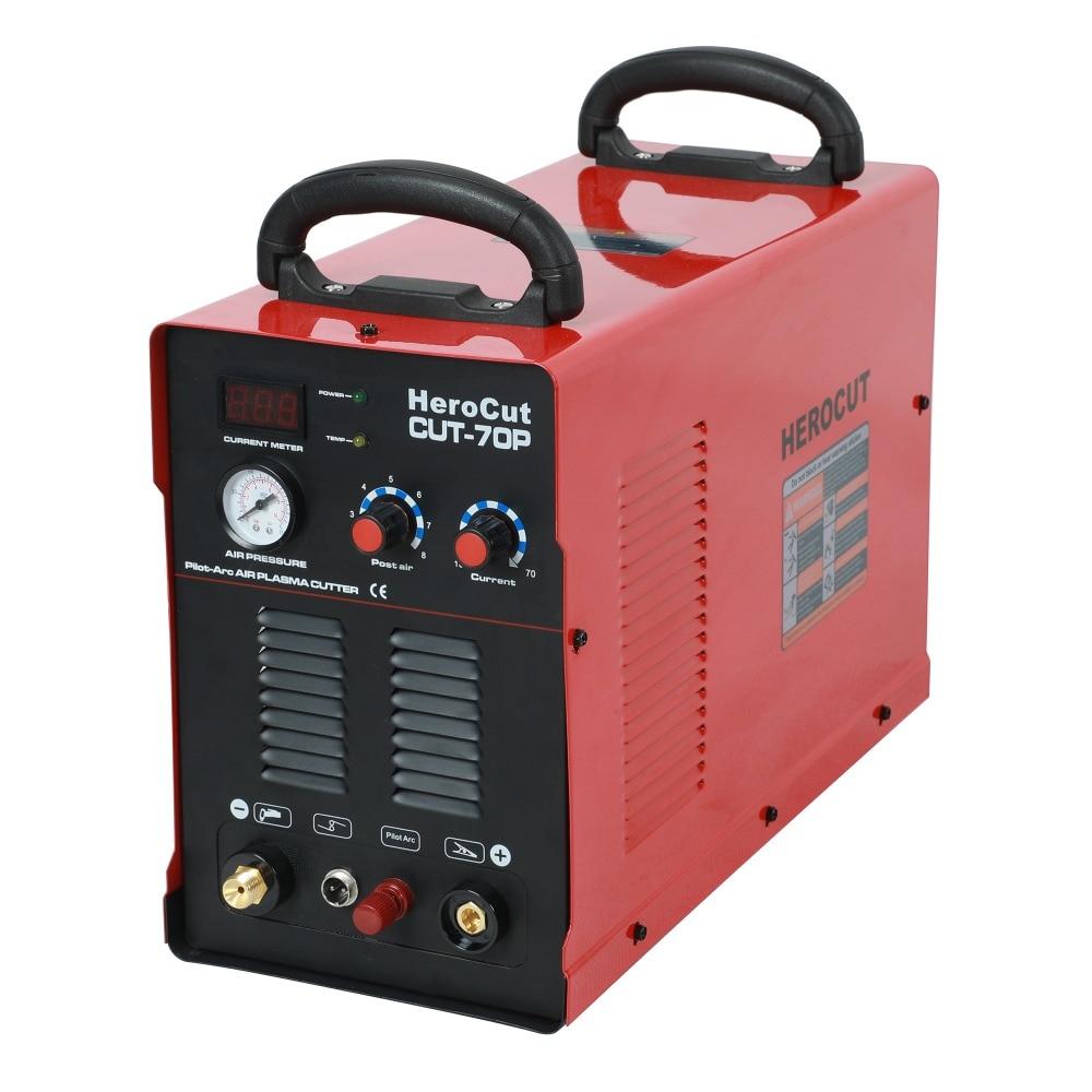 IGBT Arc Pilote HF CUT70P 70 Ampères DC Air Plasma machine de découpe plasma Cutter Coupe Épaisseur 20mm Coupe Nette