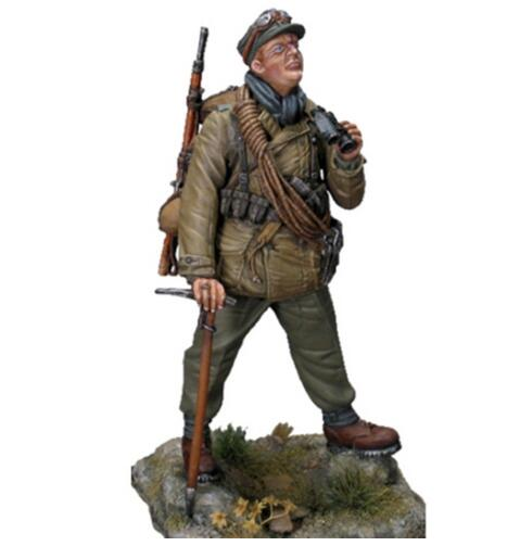 1/24 75MM Ancient Stand Soldier Winter 75mm   Resin Figure Model Kits Miniature Gk Unassembly Unpainted