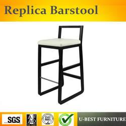 U-BEST высококачественный американский стиль твердый деревянный барный стул, proscenium lazyback домашний бар высокий стул