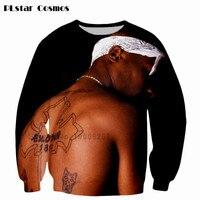 PLstar Cosmos New Arrive Harajuku 2Pac Tupac Sweatshirt Men Women Long Sleeve Outerwear Hip Hop Sweatshirts