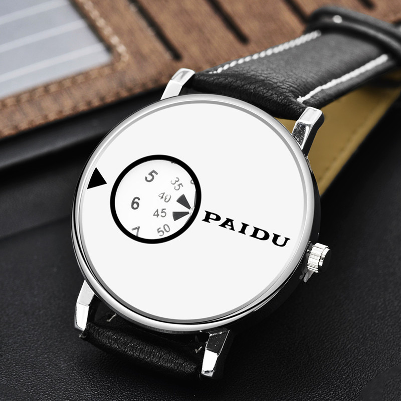 2016 PAIDU Fashion Watch Men Women Turntable Watches Lovers Leather Quartz Watch Unisex Hour Clock font